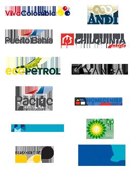 Empresas que usan software gestion de contratos VivaColombia, Ecopetrol, SURA, Yanbal, ANDI, Pacific, Infrastructure, Chilqinta Energia Chile, Ocensa, BP, Sodimac, Homecenter, Puerto Bahia, Codensa